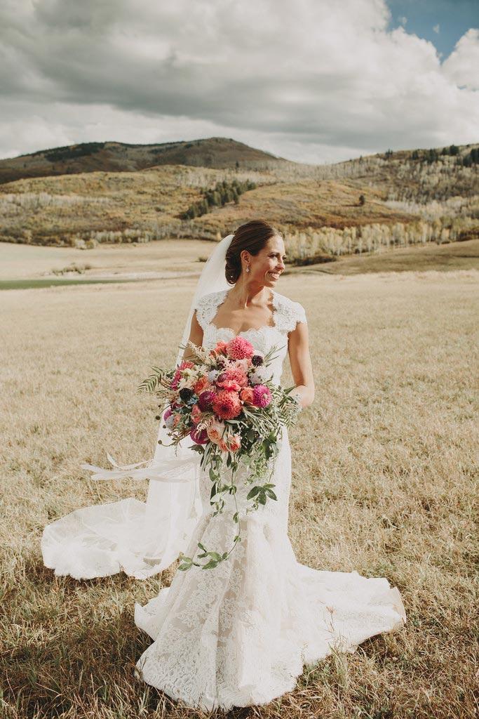 Bride in Aspen wedding 1